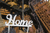 "Metal word ""Home"" — Stock Photo"
