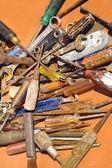 Старые ржавые инструменты — Стоковое фото