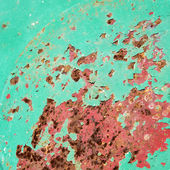 Green and red rusted metal. — Stock Photo