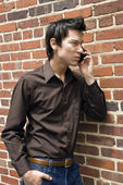 Man on cell phone. — Stock Photo