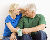 Man and woman relaxing together. — Stock Photo
