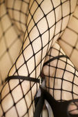Fishnet stockings. — Stock Photo