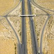 Interstate in desert. - Stock Photo