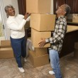 Stock Photo: Senior Couple With Moving Boxes
