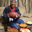 Woman football fan. - Stock Photo