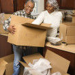 Foto Stock: Mature couple moving.