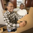 Mature couple relocating. — Stock Photo