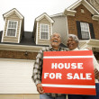 Couple buying house. - Stock Photo