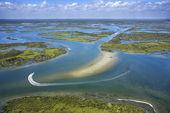 Coastal wetland marsh. — Stock Photo