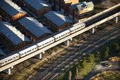 Příměstským vlakem. — Stock fotografie