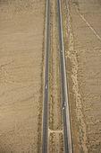 Interstate in desert. — Stock Photo