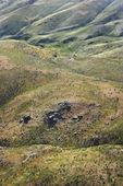 Rolling hill landscape. — Stock Photo