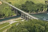 Shoreline Highway bridge. — Stock Photo