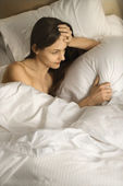 Woman in bed. — Stock Photo