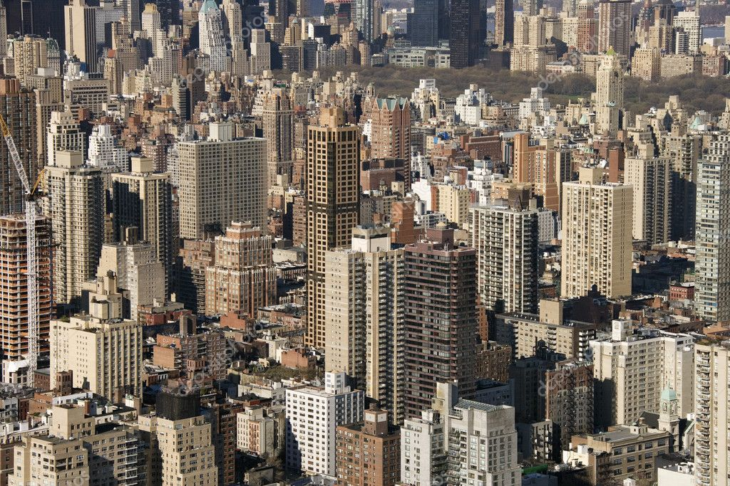 Aerial view of buildings in New York City. — Stock Photo #9329528