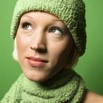 Woman in winter gear. — Stock Photo