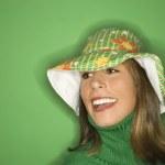 Pretty woman smiling. — Stock Photo