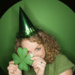 Woman celebrating St. Patty. — Stock Photo #9330161