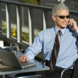 Businessman on cellphone. - Stock Photo