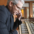 Businessman on Cellphone — Stock Photo