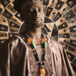 Young African American Man in Traditional African Clothing — Stock Photo #9330411