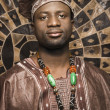 Young African American Man in Traditional African Clothing — Stock Photo #9330414