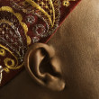 Ear and patterned headband. — Stock Photo