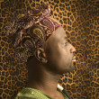 Young African American Man in Traditional African Clothing — Stock Photo #9330421