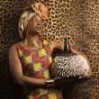 Young African American Woman in Traditional African Dress — Stock Photo #9330422