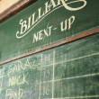 Royalty-Free Stock Photo: Billiards chalkboard.