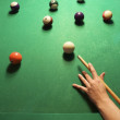 Woman playing billiards. — Stock Photo #9330551