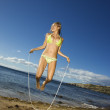 Woman jumping rope. — Stock Photo #9330733