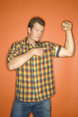 Man flexing muscle. — Stock Photo