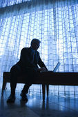 Businessman with laptop. — Stock Photo