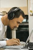 Man using computer. — Stock Photo
