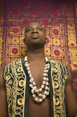 Man in African clothes. — Stock Photo