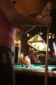 Young Man Playing Billiards — Stock Photo