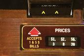Jukebox money slot. — Stock Photo