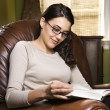 Woman reading. — Stock Photo #9363789