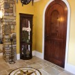 Front Door and Foyer of Luxury Home - Stock Photo