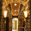 Stock Photo: Arched hallway in house.