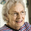 Elderly Woman Smiling — Stock Photo