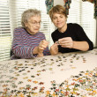 Stok fotoğraf: Elderly Woman and Younger Woman