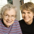 Elderly Woman and Younger Woman — Stock Photo