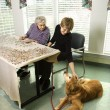 due donne con cane — Foto Stock #9364293