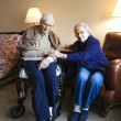 Elderly Caucasian couple. — Stock fotografie