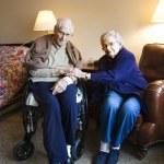 starší Kavkazský pár — Stock fotografie
