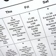 Calendar of events. - Stock Photo