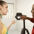 Model and photographer. — Stock Photo