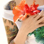 Tattoed woman. — Stock Photo